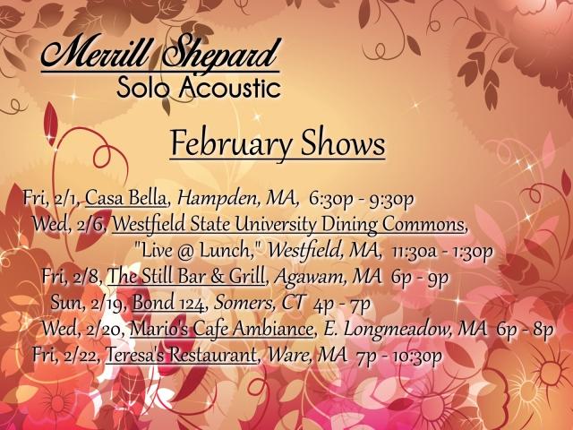 Feb Shows 2019